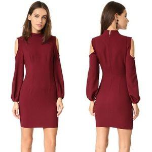 Black Halo Boyd Cold Shoulder Mini Dress